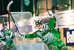 Stockholm 2014-11-29 Bandy Elitserien Hammarby IF - IK Sirius :  <br /> Hammarbys Robin Sundin friar sitt 5-2 m&aring;l under matchen mellan Hammarby IF och IK Sirius <br /> (Foto: Kenta J&ouml;nsson) Nyckelord:  Elitserien Bandy Zinkensdamms IP Zinkensdamm Zinken Hammarby Bajen HIF HeIF Sirius IKS jubel gl&auml;dje lycka glad happy
