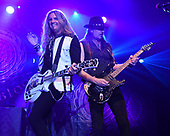 HOLLYWOOD FL - APRIL 25: Joel Hoekstra and Reb Beach of Whitesnake perform at the Hard Rock Events Center held at the Seminole Hard Rock Hotel & Casino on April 25, 2019 in Hollywood, Florida. : Credit Larry Marano © 2019
