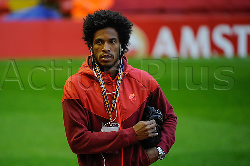 25.02.2016. Liverpool, England. UEFA Europa League game between Liverpool FC and Augsburg.  Caiuby Francisco da Silva in Anfield Road stadium