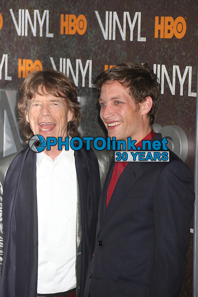 Mick Jagger and son James Jagger 2016<br /> Photo By John Barrett/PHOTOlink