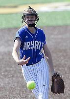 NWA Democrat-Gazette/CHARLIE KAIJO during a softball game, Friday, May 10, 2019 at Tiger Athletic Complex at Bentonville High School in Bentonville. Bentonville West High School defeated Bryant High School 5-3