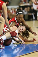 SACRAMENTO, CA - MARCH 27:  Kayla Pedersen of the Stanford Cardinal during Stanford's 73-36 win over Georgia in the third round of the NCAA Women's Basketball Championships on March 27, 2010 at Arco Arena in Sacramento, California.