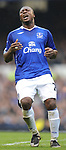 Ayegbeni Yakubu  of Everton during the Premier League match at Goodison Park  Stadium, Liverpool. Picture date 27th April 2008. Picture credit should read: Simon Bellis/Sportimage