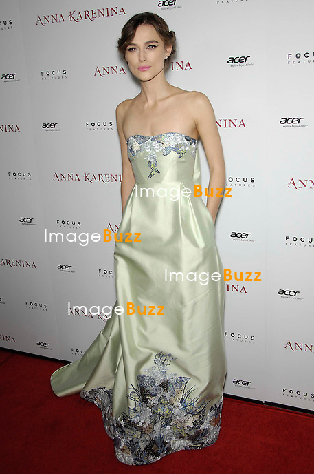 Keira Knightley during the premiere of the new movie from Focus Features ANNA KARENINA, held at the Acrlight Cinemas Hollywood, on November 14, 2012, in Los Angeles..