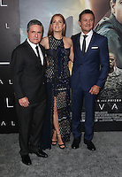 "Westwood, CA - NOVEMBER 06: Brad Grey, Amy Adams, Jeremy Renner at Premiere Of Paramount Pictures' ""Arrival"" At Regency Village Theatre, California on November 06, 2016. Credit: Faye Sadou/MediaPunch"