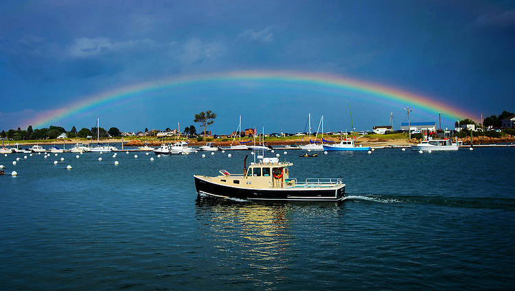 (Wells, ME, 08/06/16) A rainbow over Wells Harbor in Wells, Maine on Saturday, August 06, 2016. Photo by Christopher Evans
