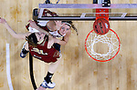 SIOUX FALLS, SD - MARCH 5:  Caitlin Murphy #33 of South Dakota and Jesse Spittel #31 of Denver fight for a rebound in the 2016 Summit League Tournament. (Photo by Dave Eggen/Inertia)