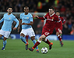 Andrew Robertson of Liverpool goes on a run during the Champions League Quarter Final 1st Leg, match at Anfield Stadium, Liverpool. Picture date: 4th April 2018. Picture credit should read: Simon Bellis/Sportimage