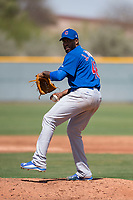 Chicago Cubs relief pitcher Jose Rosario (48) during a Minor League Spring Training game against the Colorado Rockies at Sloan Park on March 27, 2018 in Mesa, Arizona. (Zachary Lucy/Four Seam Images)