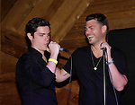 Eddie Alderson and Jeff Branson sing at 15th Southwest Florida Soapfest 2014 Charity Weekend with a Bartending/Karaoke get together on May 26, 2104 at Porky's, Marco Island, Florida. (Photo by Sue Coflin/Max Photos)