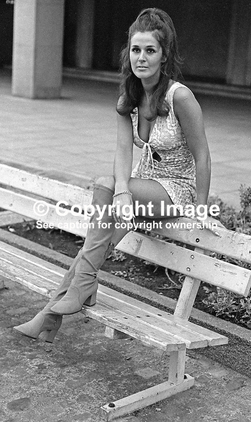 Susan Knowles, aka Susan Riddell, native of Londonderry, N Ireland, Miss Ireland 1958. Susan now (2012) lives in Newberry, Berkshire with husband, Arnie Knowles. She has five grandchildren. 19700900324SK1.<br />