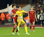 Belgium's Axel Witsel tussles with Wales' Gareth Bale<br /> <br /> - European Qualifier - Belgium vs Wales- Heysel Stadium - Brussels - Belgium - 16th November 2014  - Picture David Klein/Sportimage