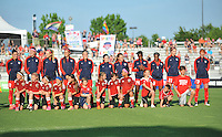 Boyds, MD - Saturday June 25, 2016: Washington Spirit prior to a United States National Women's Soccer League (NWSL) match between the Washington Spirit and Sky Blue FC at Maureen Hendricks Field, Maryland SoccerPlex.