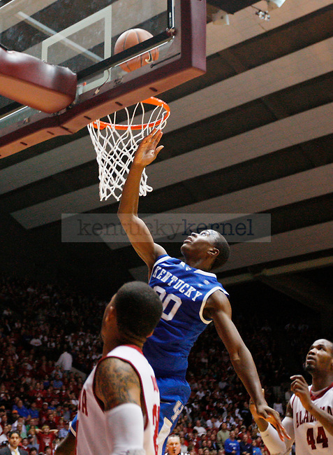 Doron Lamb makes a lay up in the second half of the UK men's basketball loss, 68-66, against the Alabama Roll Tide at Coleman Arena  on Jan. 18, 2011. Photo by Britney McIntosh | Staff