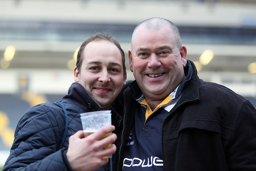 Worcester Warrior Fans after todays game<br /> <br /> Photographer Rachel Holborn/CameraSport<br /> <br /> Rugby Union - Greene King IPA Championship  - Worcester Warriors v London Scottish - Saturday 28th March 2015 - Sixways Stadium - Worcester<br /> <br /> &copy; CameraSport - 43 Linden Ave. Countesthorpe. Leicester. England. LE8 5PG - Tel: +44 (0) 116 277 4147 - admin@camerasport.com - www.camerasport.com