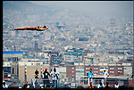 China&rsquo;s Fu Mingxia, 13, makes her Olympic gold medal-winning 10m platform dive. <br /> Barcelona, Spain, July 1992<br /> <br /> La chinoise Fu Mingxia, 13 ans, m&eacute;daille d'or olympique du plongeon de 10 m&egrave;tres.<br /> Barcelone, Espagne, juillet 1992  <br /> <br /> Canon EOS 1  80-200mm  Kodachrome 64