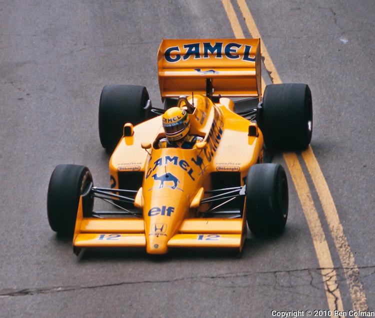 Ayrton Senna, LLotus 99T, Detroit 1987