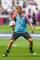 Oleksandr Zinchenko of Manchester City warms up ahead of the Premier League match between West Ham United and Manchester City at the London Stadium, London, England on 10 August 2019. Photo by David Horn.
