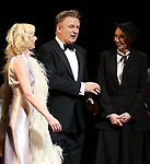 "Anne Heche, Alec Baldwin and Julie Halston during the Roundabout Theatre Company One-Night Only Benefit Reading Curtain Call for  ""Twentieth Century"" at Studio 54 on April 29, 2019 in New York City."