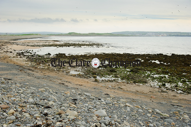 A view of the beach near Liscannor, where the five million euros worth of drugs were found. Photograph by John Kelly.