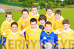 Competing in the National Schools football blitz in Dr Crokes GAA grounds on Friday was Lissivigeen NS front row l-r: James Licup, Darragh O'Donoghue, Johnaton O'Sullivan, Peter Falvey. Back row: Eoin Kennedy, Liam Kearney, Kevin O'Sullivan, Gerard Murphy, Liam O'Callaghan and Stephen O'Donoghue.   Copyright Kerry's Eye 2008