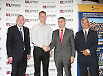 27/10/2015   With Compliments.  Attending the GAA High Performance Scholarships 2015-2016 in the Castletroy Park Hotel were Prof Don Barry, President, UL, Silver Ruairi Deane. Club: Bantry Blues, Cork a 2nd Year PE (Postgraduate) student, Cork Senior Footballer 2014, 2015, Munster U21 Football Championship 2012, Munster & All Ireland Junior Football Championship (Captain) 2013 and Munster Junior Footballer of the Year 2013, Liam Sheedy, Area Manager Midwest Region, Bank of Ireland and Dave Mahedy, Director of Sport, UL. Photograph: Liam Burke/Press 22