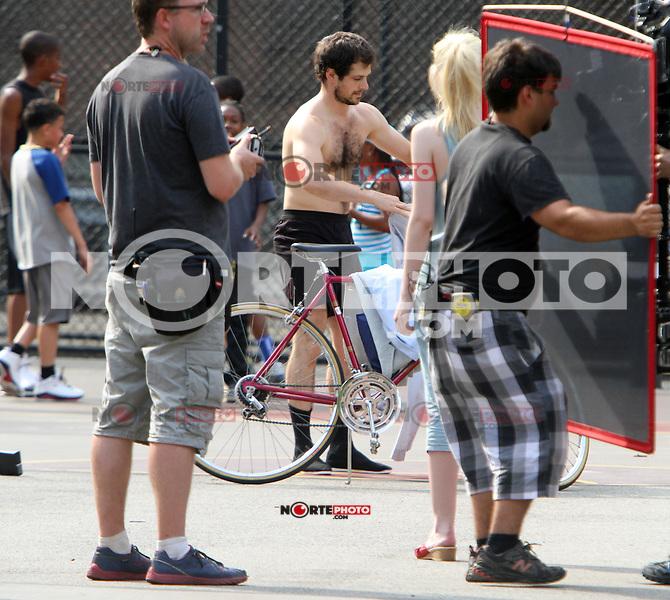 July 03, 2012  Stripper shooting on location for new movie for Very Good Girls in New York City.Credit:© RW/MediaPunch Inc. *NORTEPHOTO*<br /> **SOLO*VENTA*EN*MEXICO**<br /> **CREDITO*OBLIGATORIO** <br /> **No*Venta*A*Terceros**<br /> **No*Sale*So*third**<br /> *** No*Se*Permite*Hacer*Archivo**<br /> **No*Sale*So*third**