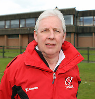 Saturday 12th May 2012  John Todd - Ulster Manager - Junior Inter-provincial between Ulster and Leinster at the Glynn, Larne, Count Antrim.