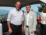 Nevada Sen. John Lee, D-North Las Vegas, left, and Ca. Sen. Ted Gaines, R-Rocklin, pose at the 2012 Lake Tahoe Summit at Edgewood Tahoe in Stateline, Nev., on Monday, Aug. 13, 2012..Photo by Cathleen Allison