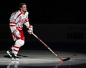 Jakob Forsbacka Karlsson (BU - 23) - The Boston University Terriers defeated the visiting Merrimack College Warriors 4-0 (EN) on Friday, January 29, 2016, at Agganis Arena in Boston, Massachusetts.