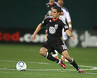 Josh Wolfe (16) of D.C. United  during an MLS match against the Los Angeles Galaxy at RFK Stadium, on April 9 2011, in Washington D.C. The game ended in a 1-1 tie.
