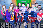 Music teachers Emma O'Leary and Michael Collins pictured with students at the workshop at the Ceolann Centre, Lixnaw on Saturday, Students were Kate Buckley,   Julianne O'Keffee, Eimear Quinlan, Alannah Kissane, Gearo?id Galvin, Ailbha Stack, Sean Galvin, Ciara?n Monahan, Tri?ona Curran, Elizabeth Meehan and Aoife King. Lixnaw.