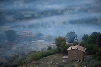 Rural Landscape of central Italy near Civita