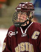 Tracy Johnson (BC - 5) - The Harvard University Crimson defeated the Boston College Eagles 5-0 in their Beanpot semi-final game on Tuesday, February 2, 2010 at the Bright Hockey Center in Cambridge, Massachusetts.