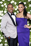 NEW YORK, NY - JUNE 11:  Leslie Odom, Jr. and Nicolette Robinson attend the 71st Annual Tony Awards at Radio City Music Hall on June 11, 2017 in New York City.  (Photo by Walter McBride/WireImage)