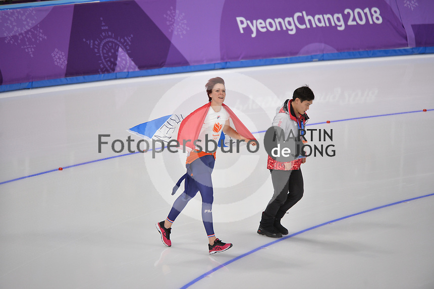 OLYMPIC GAMES: PYEONGCHANG: 14-02-2018, Gangneung Oval, Long Track, 1000m Ladies, Final result, Olympic Champion Jorien ter Mors (NED), ©photo Martin de Jong