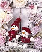 Interlitho, CHRISTMAS ANIMALS, photos+++++,2 snowmen,pink roses,KL2983,#xa#