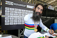 Picture by Alex Whitehead/SWpix.com - 02/03/2017 - Cycling - UCI Para-cycling Track World Championships - Velo Sports Center, Los Angeles, USA - Men's C3 1 km Time Trial Final. Gold - USA's BERENYI Joseph.<br /> branding