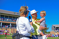 Kevin Chappell (USA) is interviewed by Dottie Pepper after winning the 2017 Valero Texas Open, AT&amp;T Oaks Course, TPC San Antonio, San Antonio, Texas, USA. 4/23/2017.<br /> Picture: Golffile | Ken Murray<br /> <br /> <br /> All photo usage must carry mandatory copyright credit (&copy; Golffile | Ken Murray)