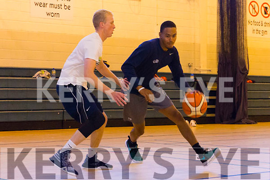 Trae Pemberton and Darren O'Sullivan, Garveys Tralee Warriors training ahead of season start at Mounthawk gym on Tuesday
