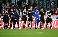 FUSSBALL   1. BUNDESLIGA  SAISON 2012/2013   7. Spieltag   Borussia Moenchengladbach - Eintracht Frankfurt   07.10.2012 Enttaeuschte Frankfurter nach dem Abpfiff.