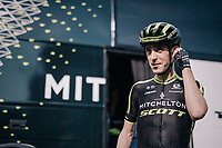 Mikel Nieve (ESP/Michelton-Scott) in his very first appearance in his Michelton-Scott kit, after a delayed season start (due to injury).<br /> <br /> 104th Li&egrave;ge - Bastogne - Li&egrave;ge 2018 (1.UWT)<br /> 1 Day Race: Li&egrave;ge - Ans (258km)