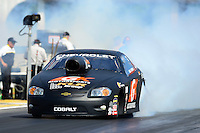 May 4, 2012; Commerce, GA, USA: NHRA pro stock driver Erica Enders during qualifying for the Southern Nationals at Atlanta Dragway. Mandatory Credit: Mark J. Rebilas-