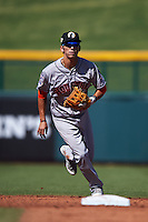 Glendale Desert Dogs shortstop Chan Jong Moon (39) during an Arizona Fall League game against the Mesa Solar Sox on October 14, 2015 at Sloan Park in Mesa, Arizona.  Glendale defeated Mesa 7-6.  (Mike Janes/Four Seam Images)