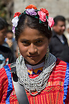 Native triqui children of San Juan Copala attend the opening ceremony of the autonomous municipality of San Juan Copala, January 20, 2007. Due to political violence, the Native people of three municipalities have decided to rule themselves as an autonomous municipalty. A Native triqui peasant who joined the organization was shot to death January 19, 2007 at an ambush. Photo by Heriberto Rodriguez