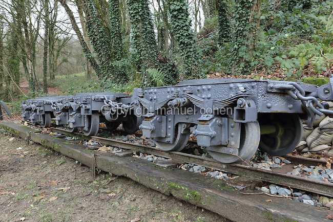 'Truck Pechat', a railway wagon, built 1888 to the design of Colonel Peshot, for transporting heavy artillery to fortified locations, on the Butte de Vauquois, 25km West of Verdun, Meuse, Lorraine, France, site of the Battle of Vauquois, 1915-18, in World War One. Picture by Manuel Cohen