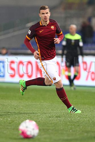 04.03.2016. Stadium Olimpico, Rome, Italy.  Serie A football league. AS Roma versus Fiorentina. Edin Dzeko in action