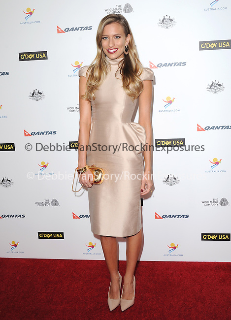 Renee Bargh attends The G'Day USA Black Tie Gala held at  JW Marriot at LA Live in Los Angeles, California on January 11,2014                                                                               © 2014 Hollywood Press Agency
