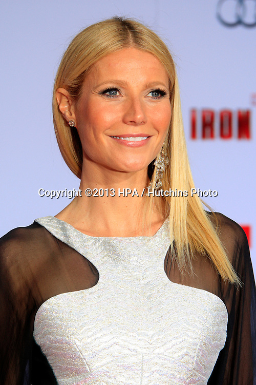 "LOS ANGELES - APR 24:  Gwyneth Paltrow arrives at the ""Iron Man 3"" LA premiere at the El Capitan Theater on April 24, 2013 in Los Angeles, CA"