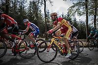 Spanish National Champion Jesus Herrada (ESP/Cofidis) up the Cote de Mont-le-Soie)<br /> <br /> 104th Liège - Bastogne - Liège 2018 (1.UWT)<br /> 1 Day Race: Liège - Ans (258km)